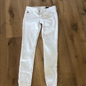Ag Adriano Goldschmied Pants - AG Legging skinny ankle white